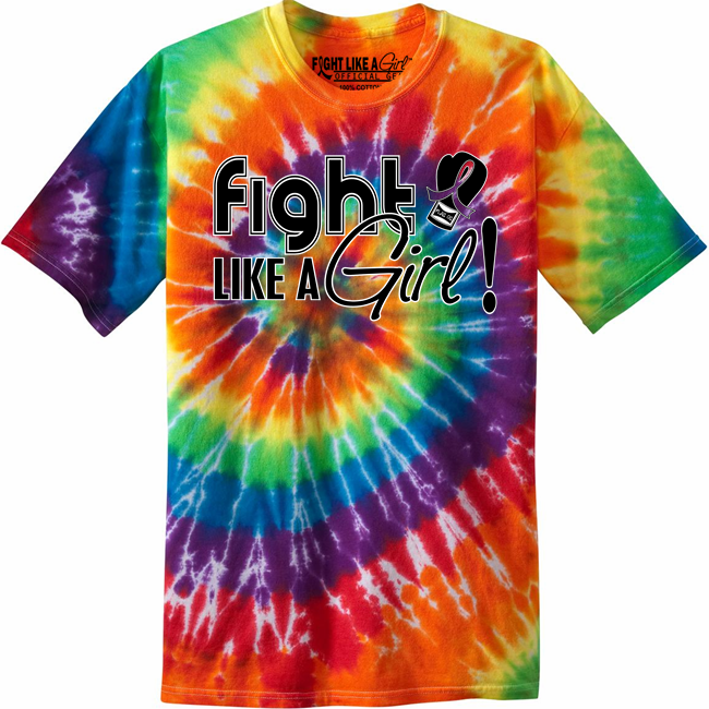 Fight like a girl tie dye t shirts for Types of tie dye shirts