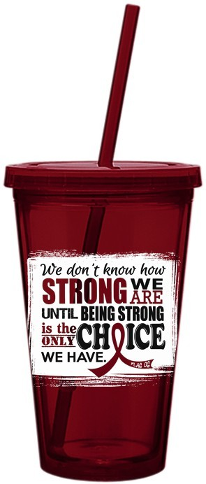 How Strong We Are Acrylic Tumbler With Straw For Multiple