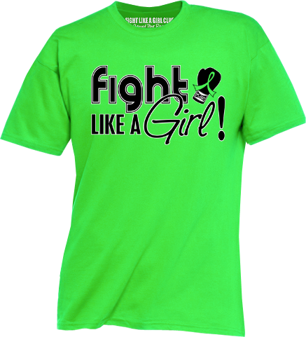 fight like a girl tshirts for lymphoma muscular