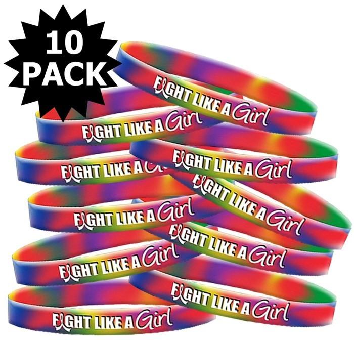Fight Like a Girl Tie-Dye Wristband