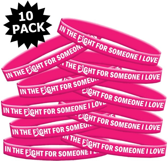 Breast Cancer Wristband Bracelets In The Fight For Someone I Love
