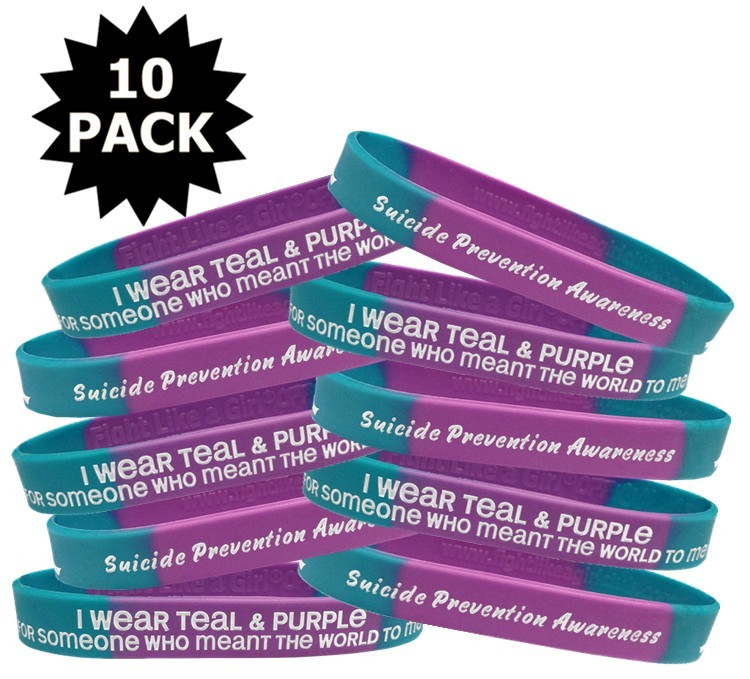 Suicide Awareness Wristband Bracelets Meant The World To Me 10-Pack