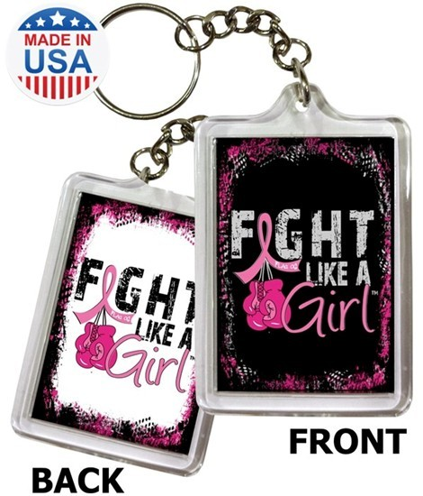 Fight Like a Girl Keychain with Boxing Gloves