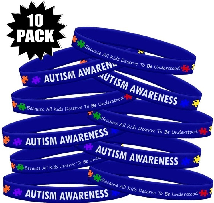 Autism Awareness Wristbands Because Every Kid Deserves to Be Understood 10-Pack