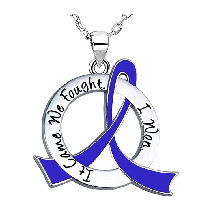 Survivor Necklace for Colon Cancer, CFS, Syringomyelia, Dysautonomia, Histiocytosis, Huntington's Disease, Ankylosing Spondylitis AS, RA
