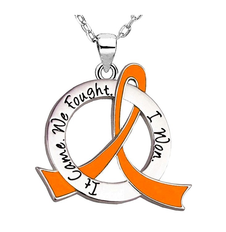"""It Came. We Fought. I Won."" Survivor Necklace For Leukemia, Multiple Sclerosis aka MS, Kidney Cancer, RSD, Skin Cancer"