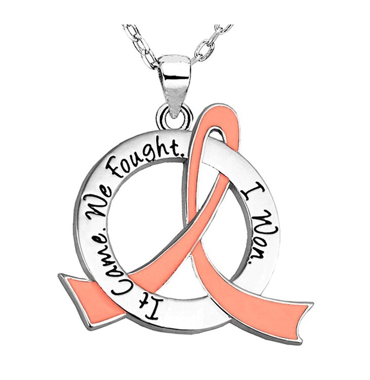"""It Came. We Fought. I Won."" Survivor Necklace For Uterine Cancer and Endometrial Cancer"