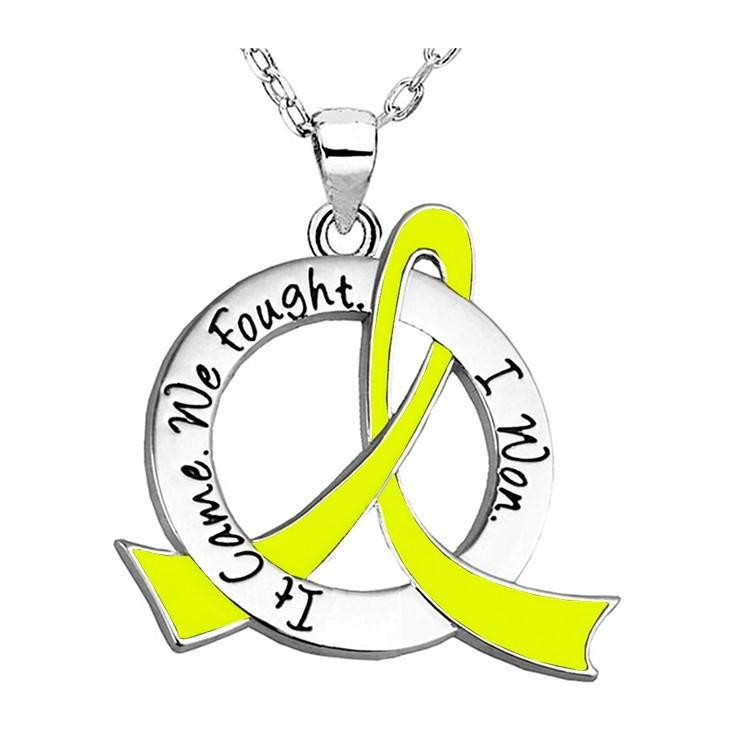 """It Came. We Fought. I Won."" Survivor Necklace Endometriosis Bladder Cancer Hydrocephalus Suicide Prevention"