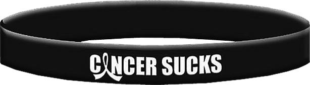 Cancer Sucks Wristband Bracelet for Melanoma, Skin Cancer