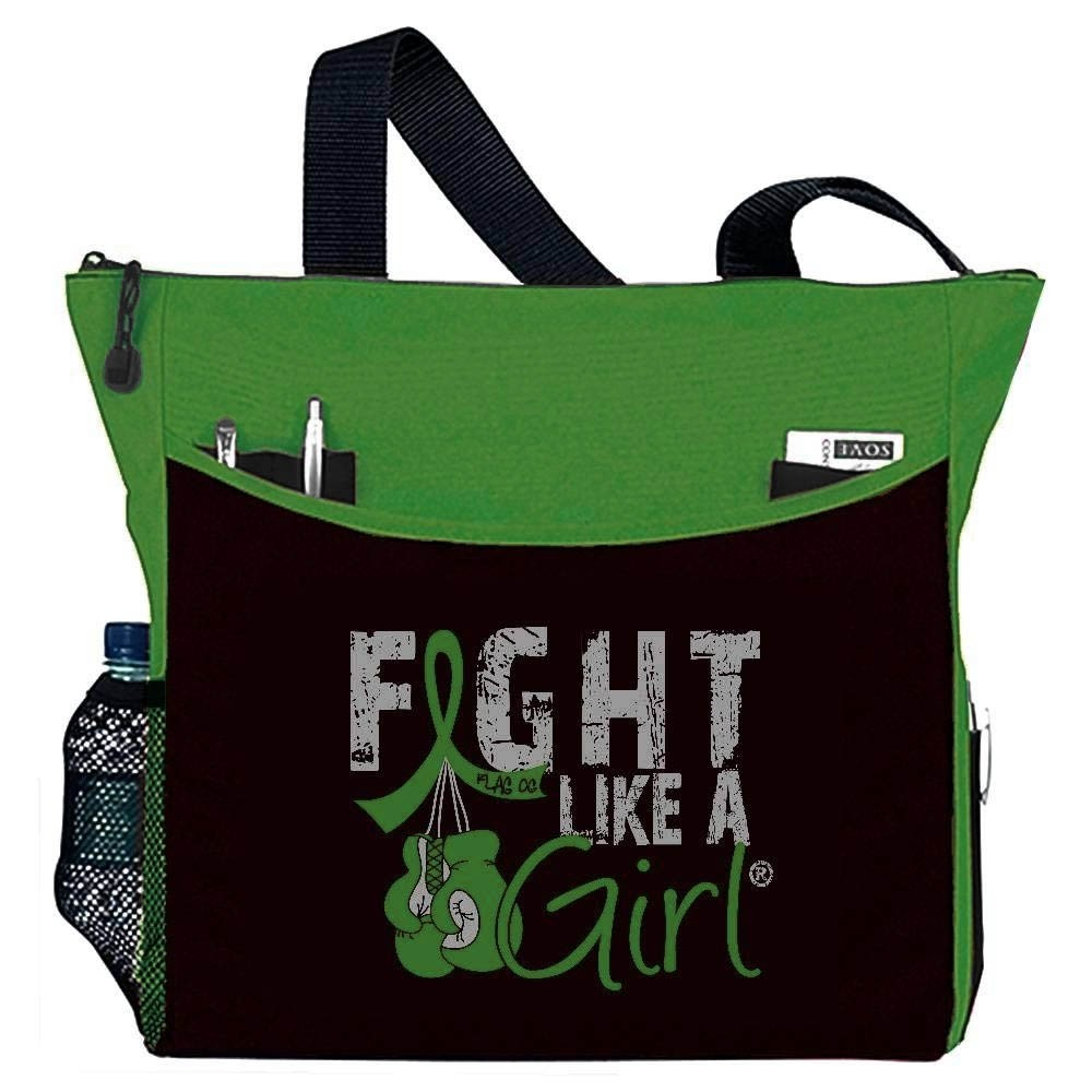 """Fight Like a Girl Knockout"" Dakota Tote Bag - Green"