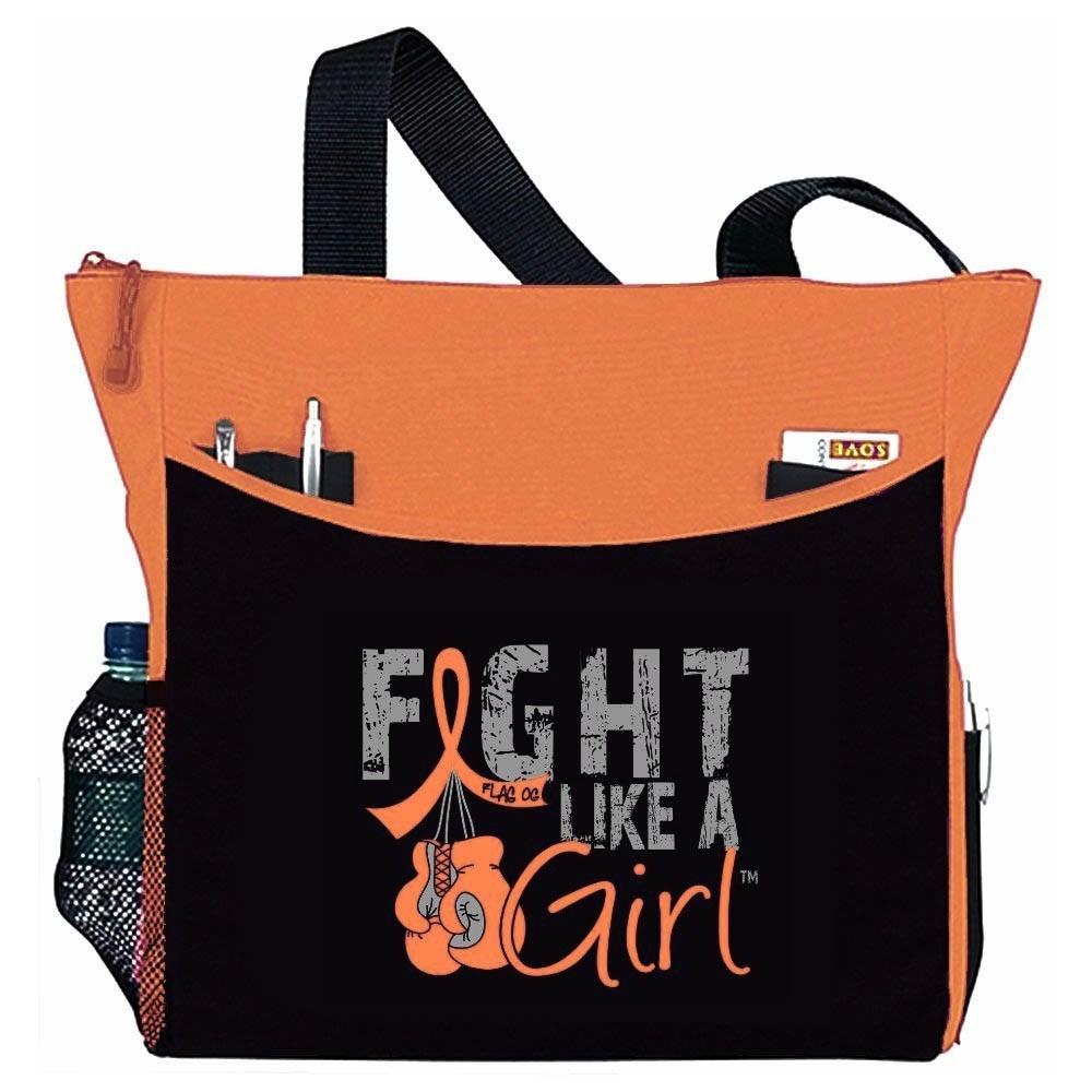 """Fight Like a Girl Knockout"" Dakota Tote Bag - Orange"