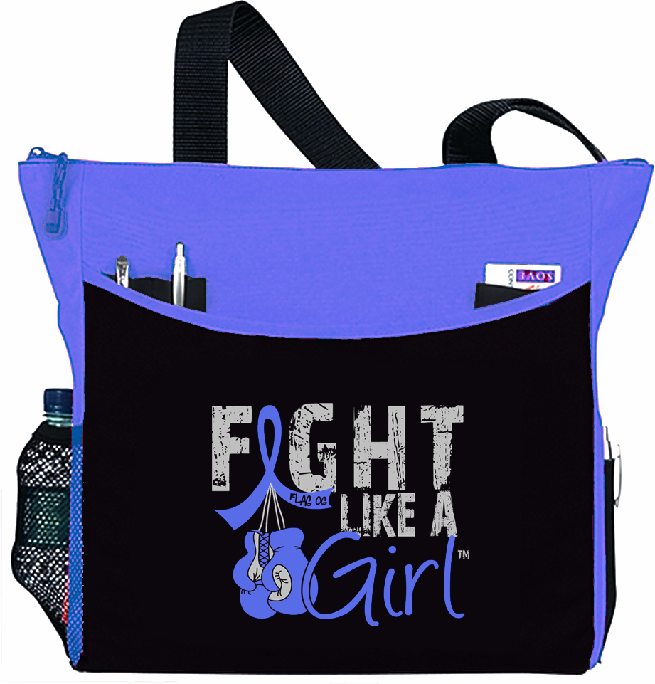 Fight Like a Girl Knockout Dakota Tote Bag - Light Blue