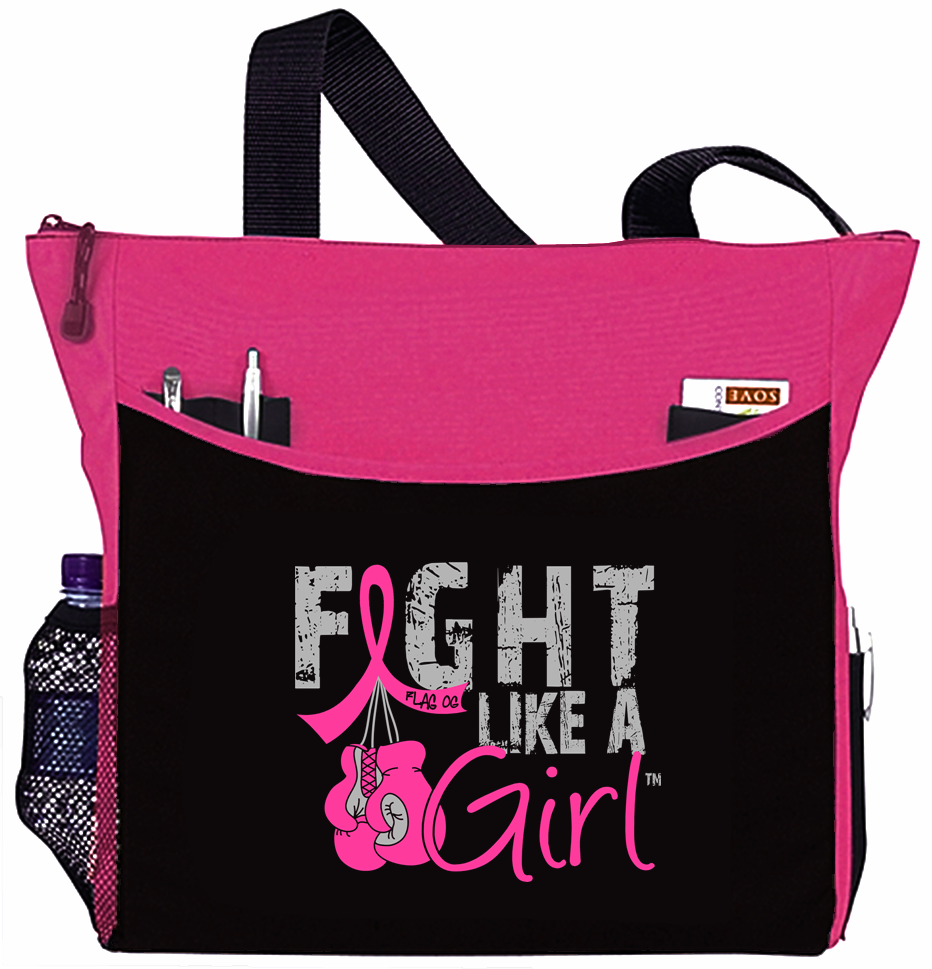 Fight Like a Girl Knockout Dakota Tote Bag - Hot Pink