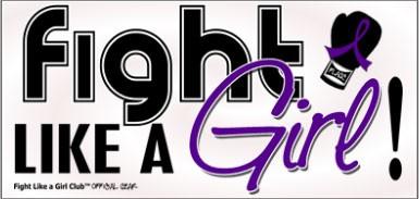 Fight Like a Girl Signature Bumper Sticker - Purple