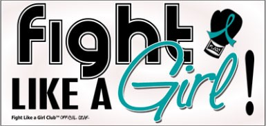 Fight Like a Girl Signature Bumper Sticker - Teal