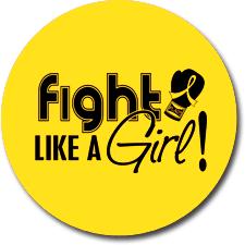 """Fight Like a Girl Signature"" Jar Opener - Yellow"