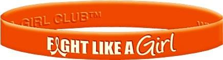 Fight Like a Girl Wristband - Orange