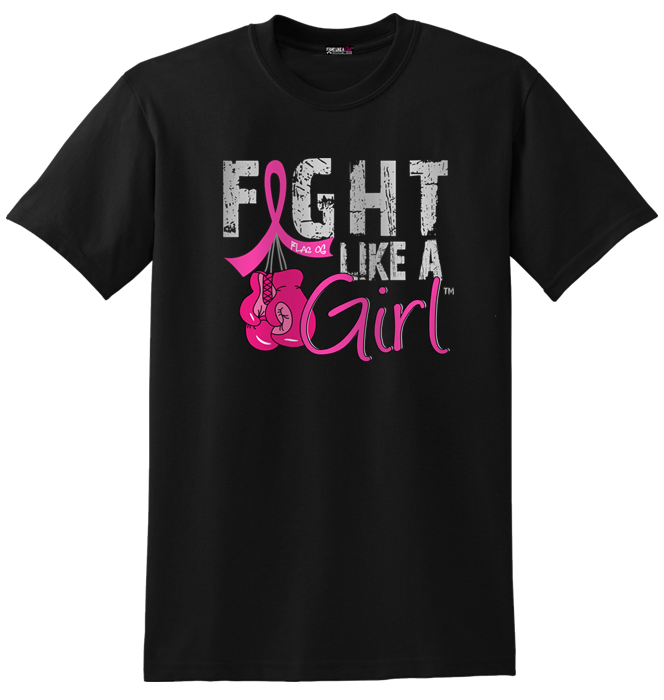 Fight Like a Girl Signature Unisex Fit T-Shirt - Pink Boxing Gloves
