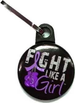 Fight Like a Girl Zipper Pulls Lupus Epilepsy Fibromyalgia Cystic Fibrosis Chiari