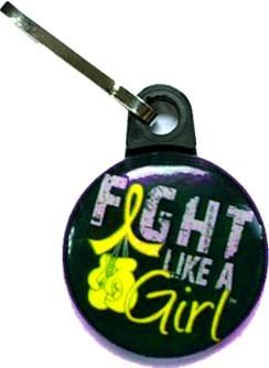 Fight Like a Girl Zipper Pulls Endometriosis Sarcoma Bladder Cancer