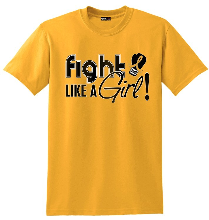 """Fight Like a Girl Signature"" Unisex T-Shirt - Gold"