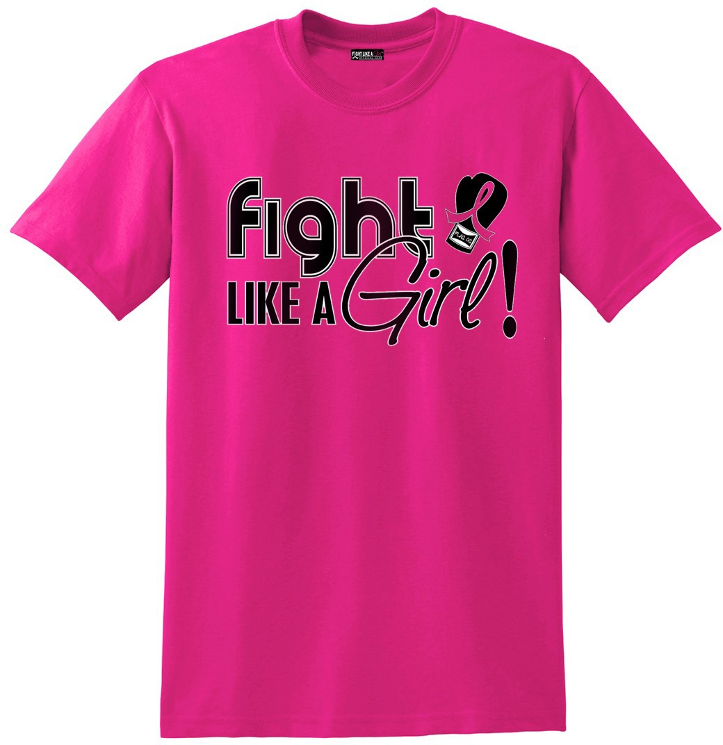 Fight Like a Girl Signature Unisex T-Shirt - Hot Pink