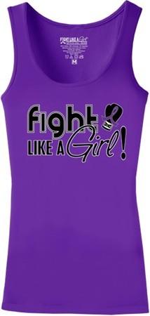 Fight Like a Girl Signature Stretch Tank - Purple