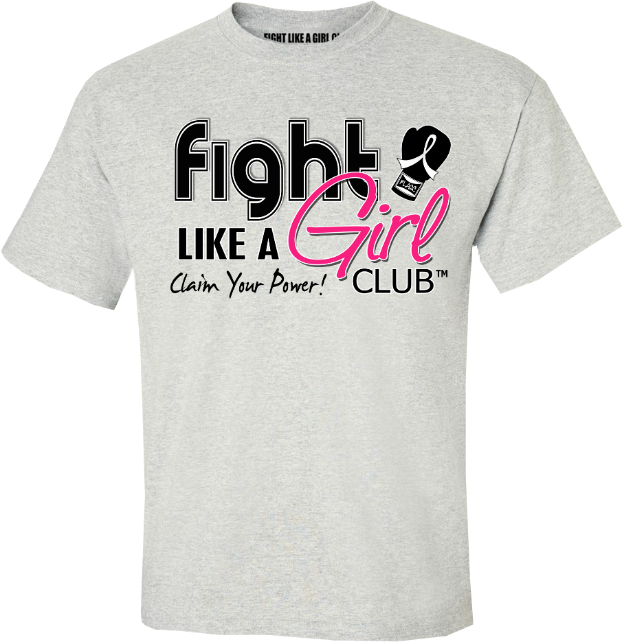 Fight Like a Girl Club Logo - Ash Grey