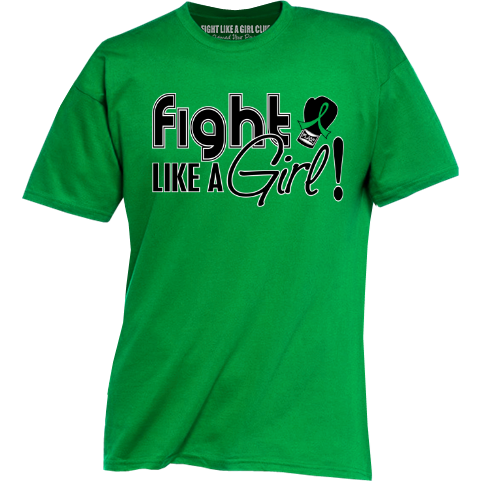 Fight Like a Girl Shirts for Cerebral Palsy, Bile Duct Cancer, Organ Donation, Kidney Disease