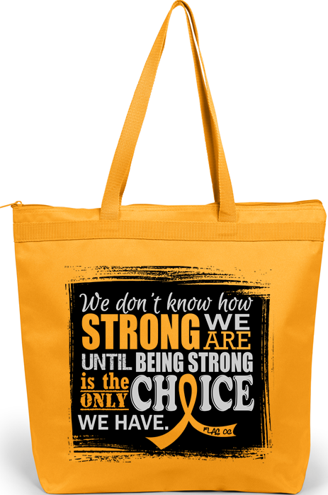 How Strong We Are Tote Bag For Childhood Cancer, Neuroblastoma, COPD aka Chronic Obstructive Pulmonary Disease
