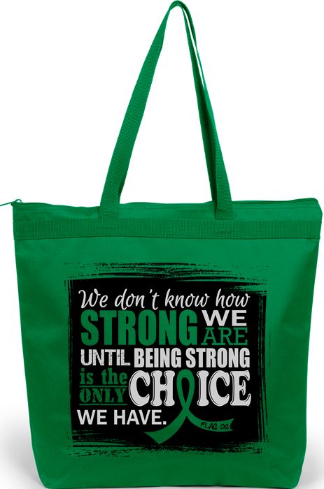 How Strong We Are Tote Bag for Bile Duct Cancer, Cerebral Palsy, Gastroparesis, Kidney Cancer, Spinal Cord Injury SCI, Traumatic Brain Injury TBI, Neurofibromatosis
