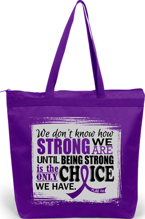 """How Strong We Are"" Darcey Tote Bag - Purple"