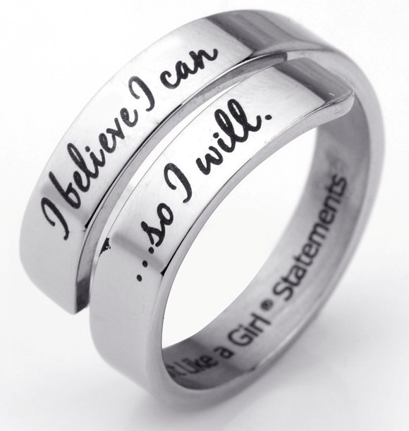 I Believe I Can So I Will Motivational Ring in Jewelry Gift Box by Fight Like a Girl Statements