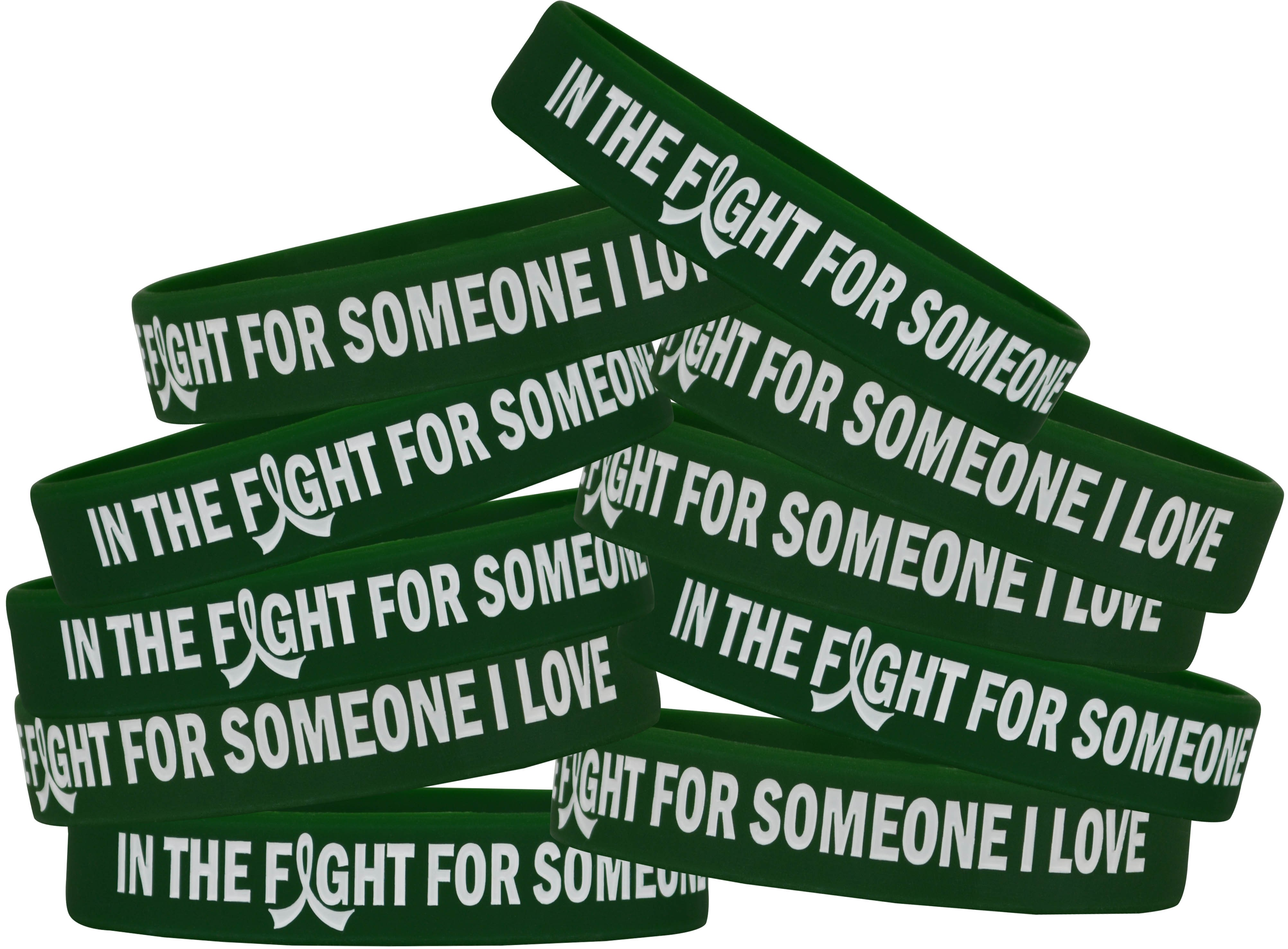 """""""In the Fight"""" Silicone Wristband Bracelet - Emerald Green"""