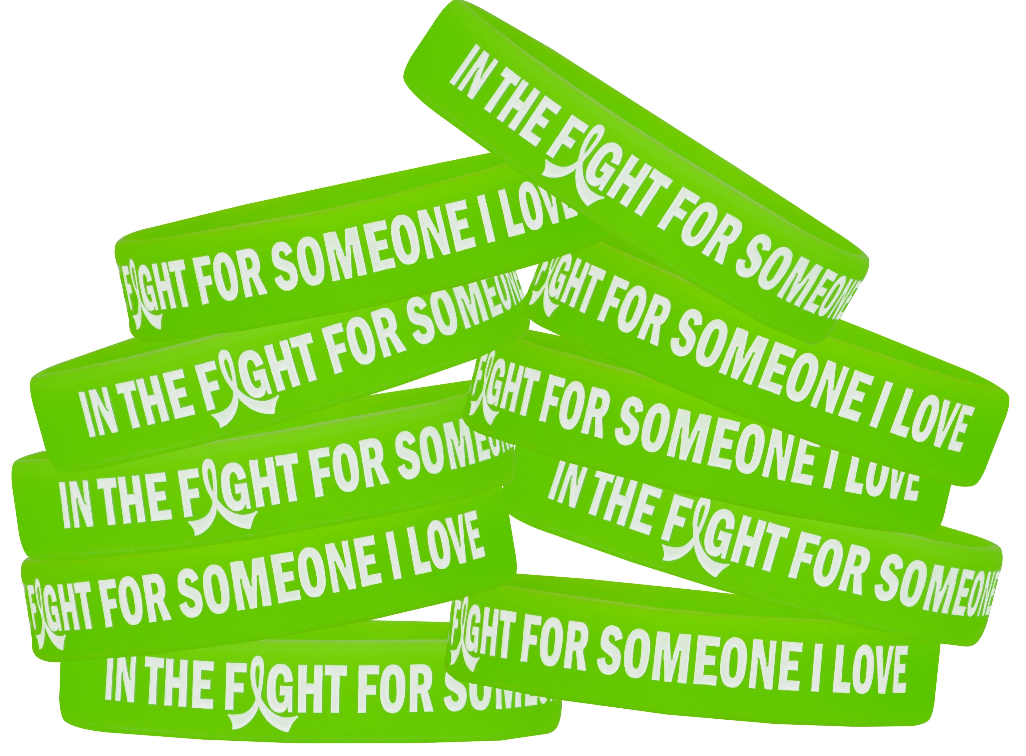 """In The Fight"" Ink-Filled Silicone Wristband - Lime Green"