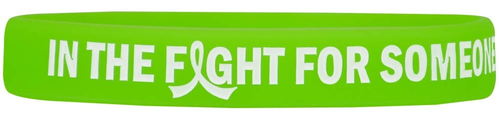 """""""In The Fight"""" Ink-Filled Silicone Wristband Bracelet - Lime Green"""