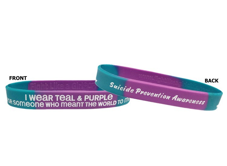 Suicide Awareness Wristband Bracelet I Wear Teal & Purple For Someone Who Meant the World To Me