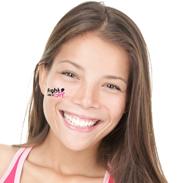 Fight Like a Girl Temporary Tattoos 3
