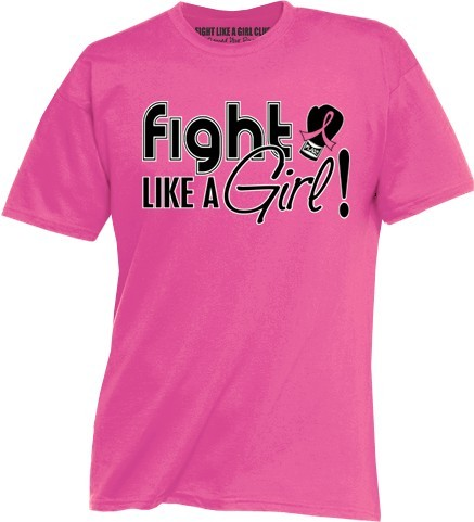 Fight Like a Girl Signature Unisex Fit T-Shirt - Pink