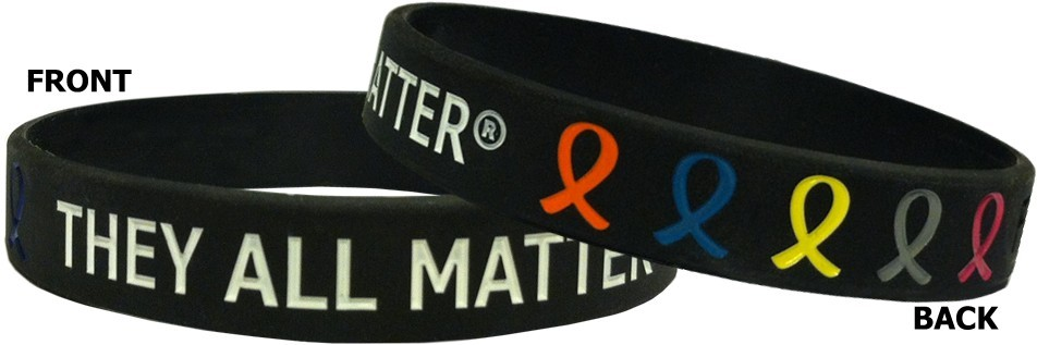 They All Matter Wristband Bracelet for All Cancers and Causes