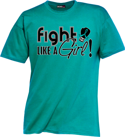Ovarian Cancer Cervical Cancer Pcos And Pkd Shirts Fight Like A Girl