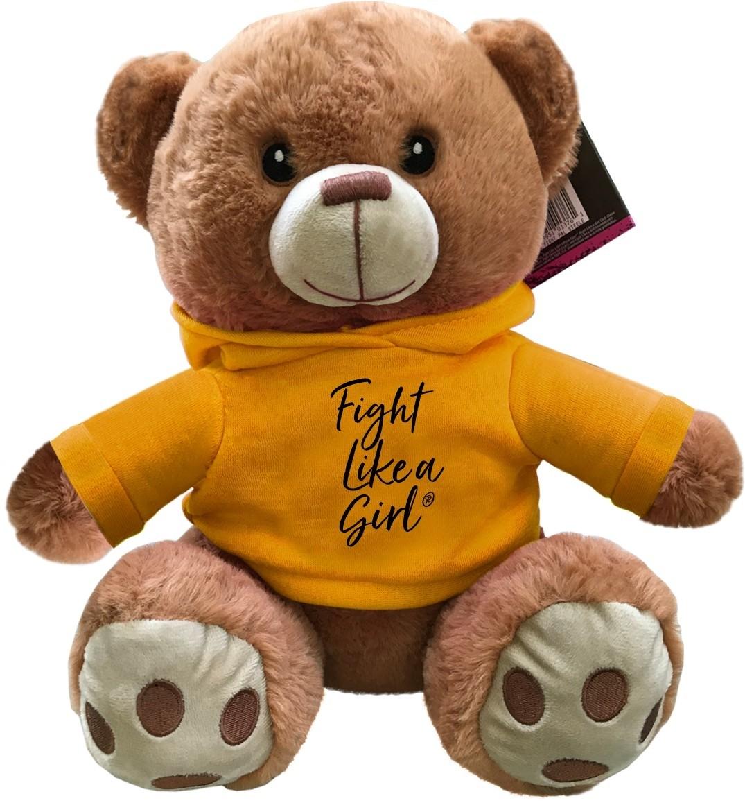 """""""Fight Like a Girl Script"""" Fight Pal Teddy Bear - Gold"""