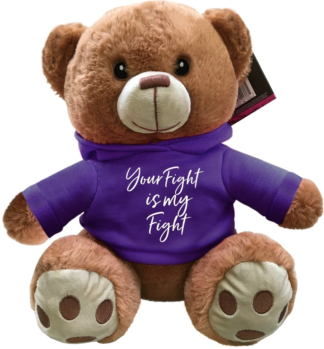 """Your Fight Is My Fight"" Fight Pal Teddy Bear - Purple"