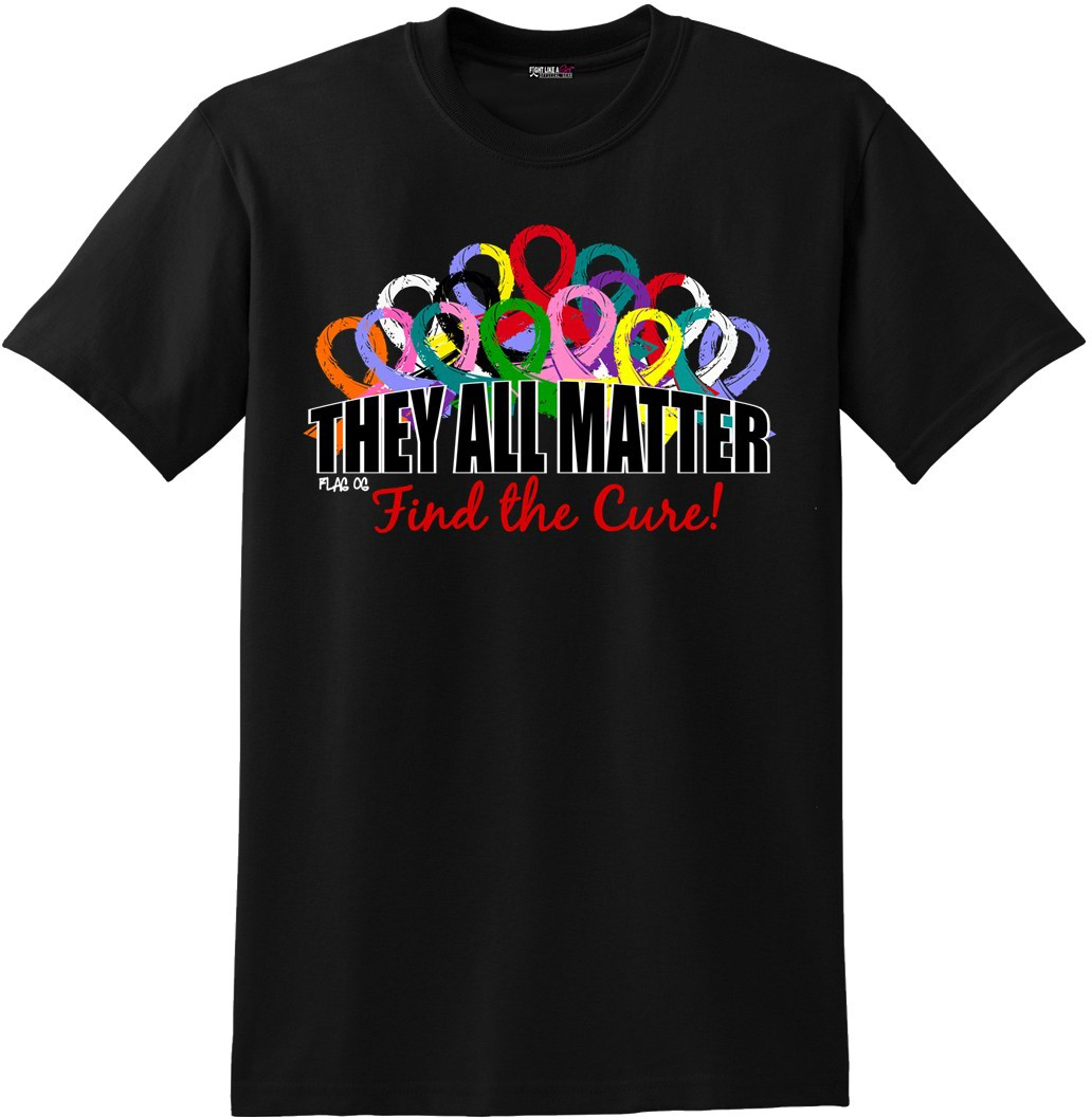 They All Matter Unisex T-Shirt - Black