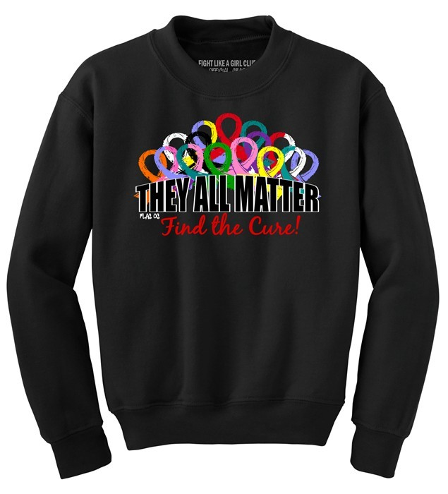 They All Matter Sweatshirt Awareness Ribbons