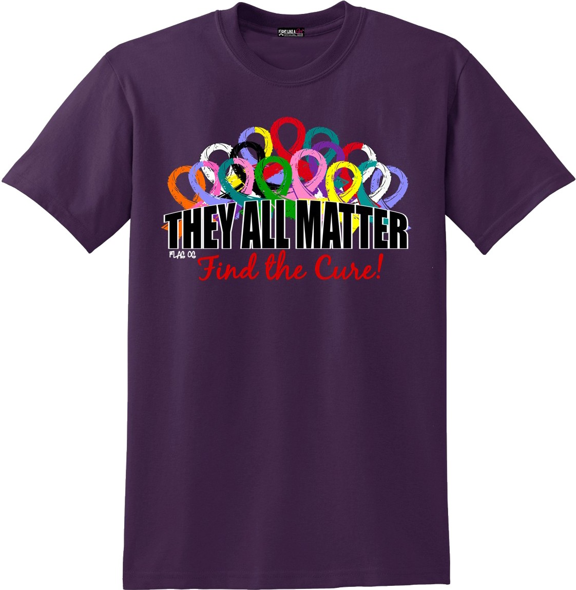 They All Matter Unisex T-Shirt - Blackberry