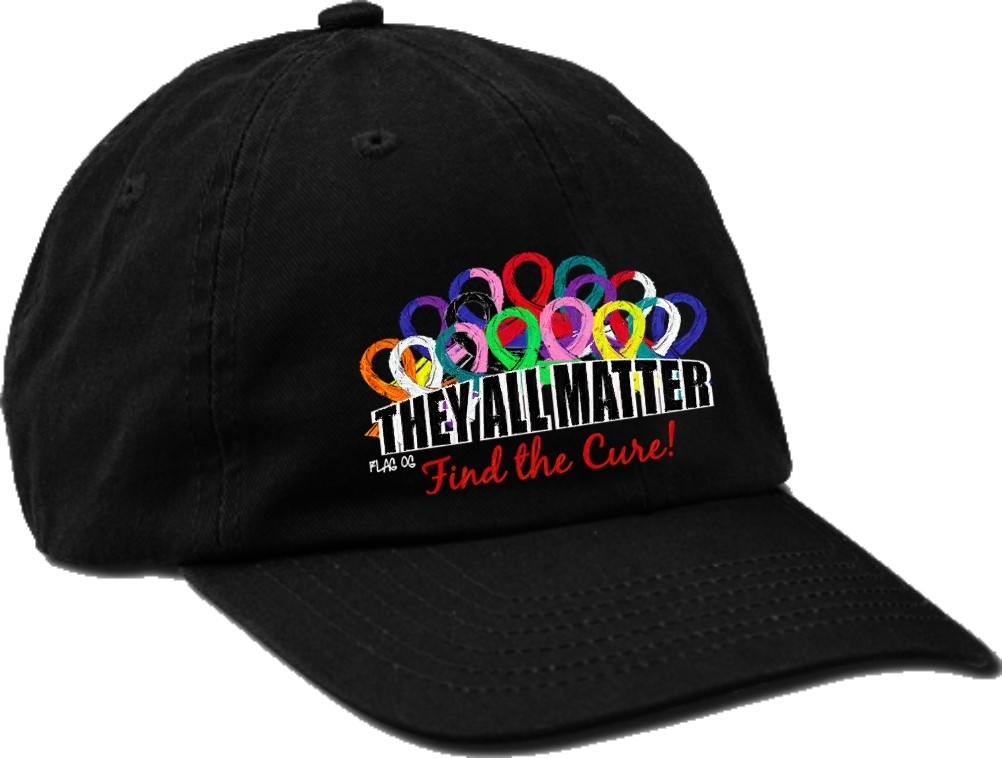 """""""They All Matter"""" Cancer Awareness Embroidered Cap"""