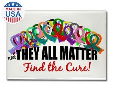 They All Matter Fridge Magnet All Ribbon Causes