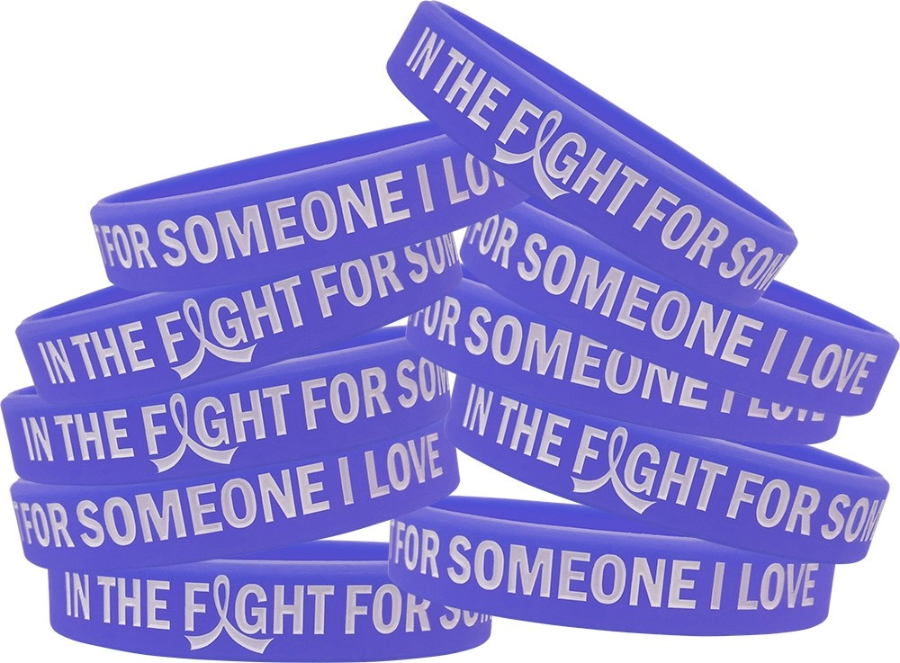 """""""In the Fight"""" Silicone Wristband Bracelet - Violet"""