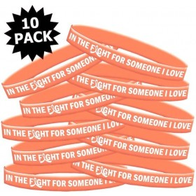 """In The Fight"" Ink-Filled Silicone Wristband - Peach (10 Pack)"